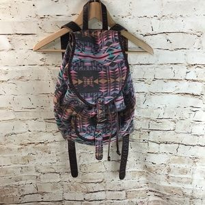 Forever 21 Multicolored Aztec Canvas Backpack